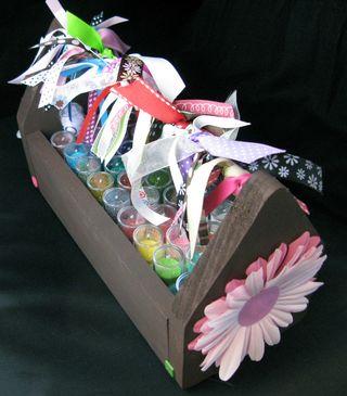 Glitter tool box top